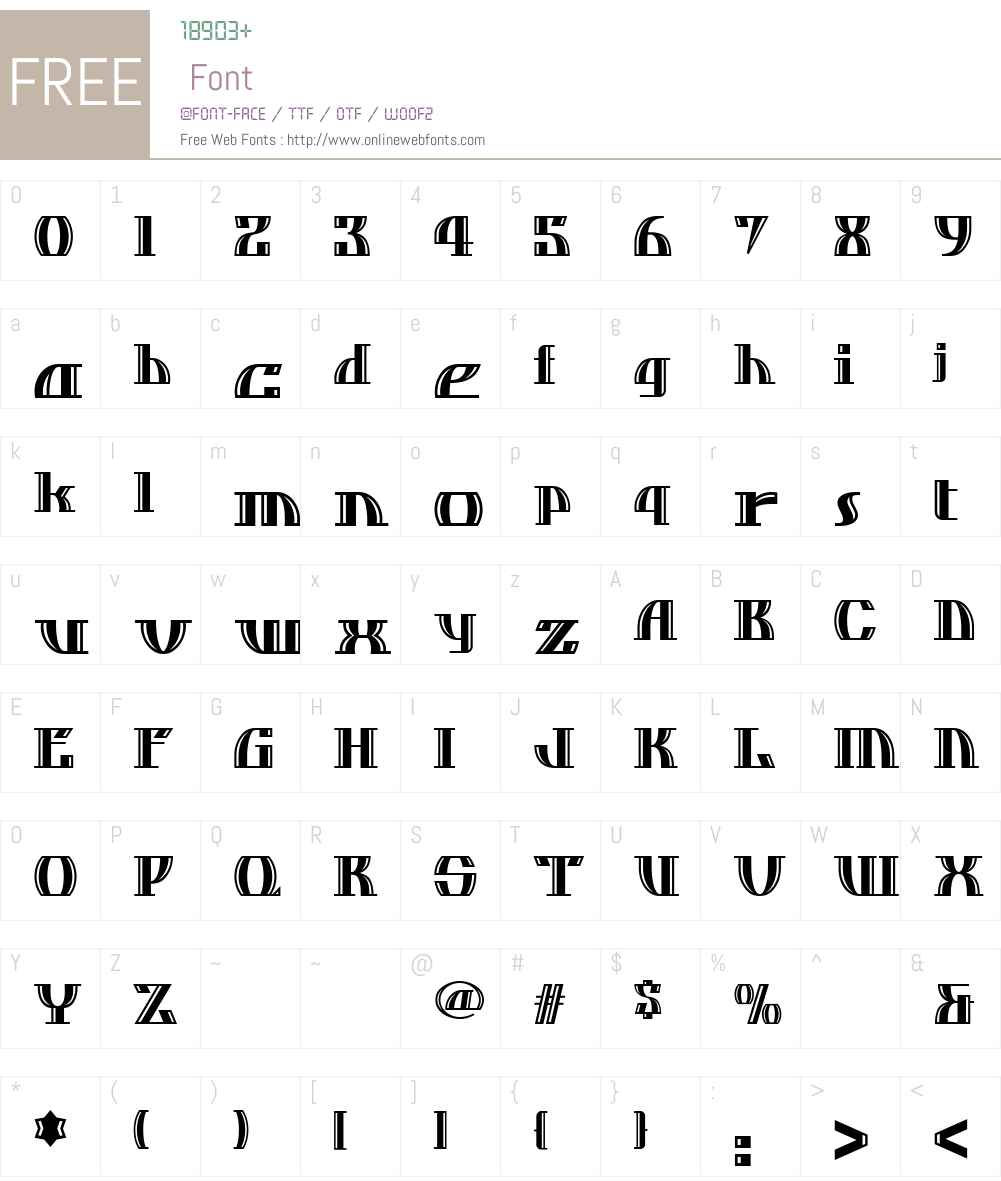 Dos Equis NF Font Screenshots
