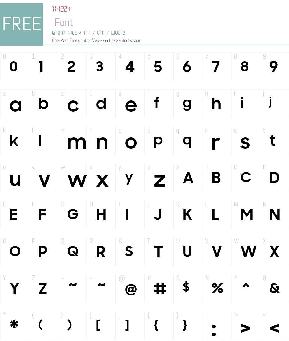 Samsung Sharp Sans Font Screenshots