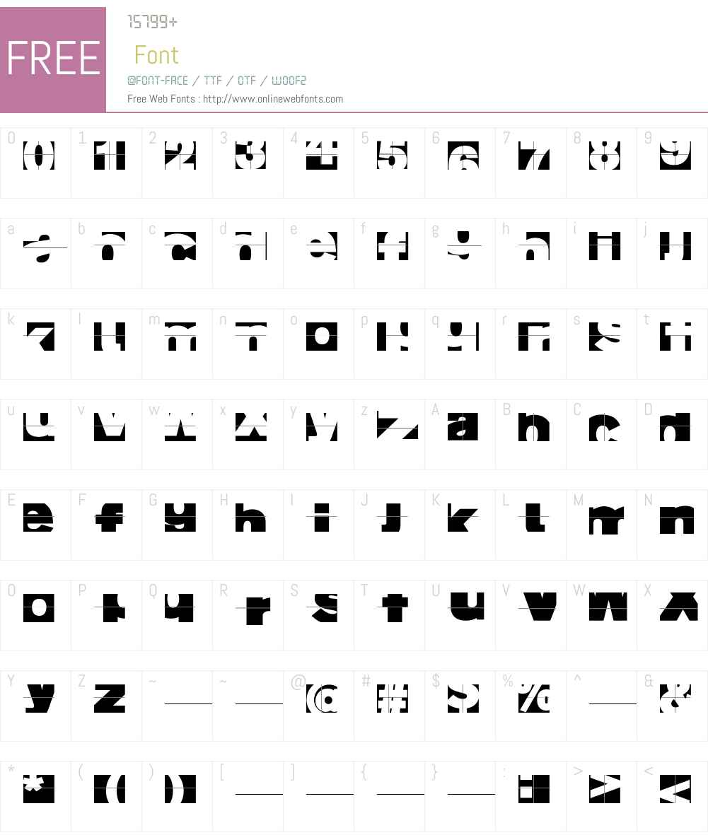 FragmentuM Font Screenshots