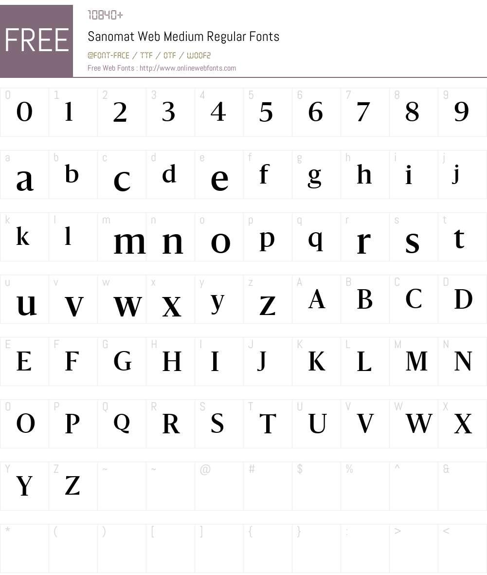 Sanomat Web Medium Font Screenshots