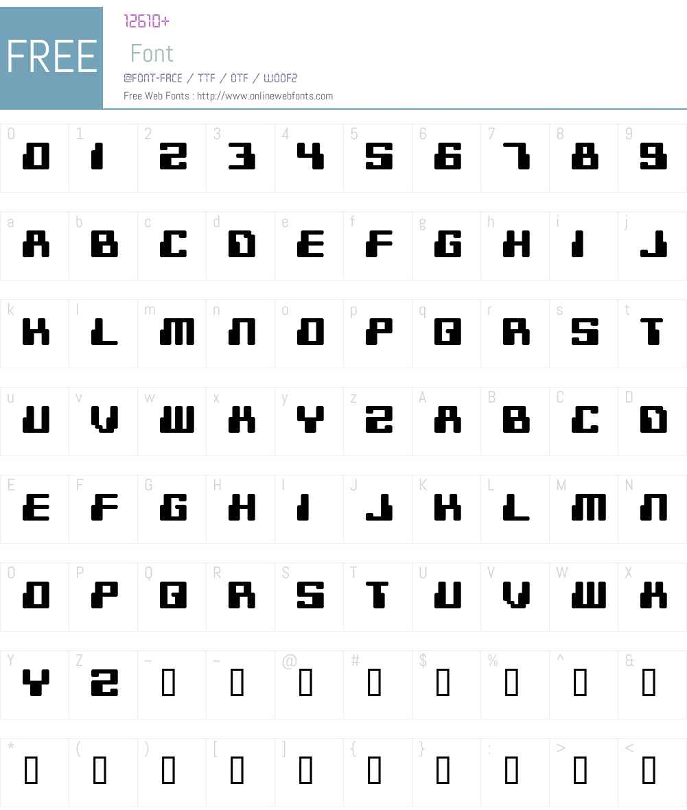 Digitek Font Screenshots