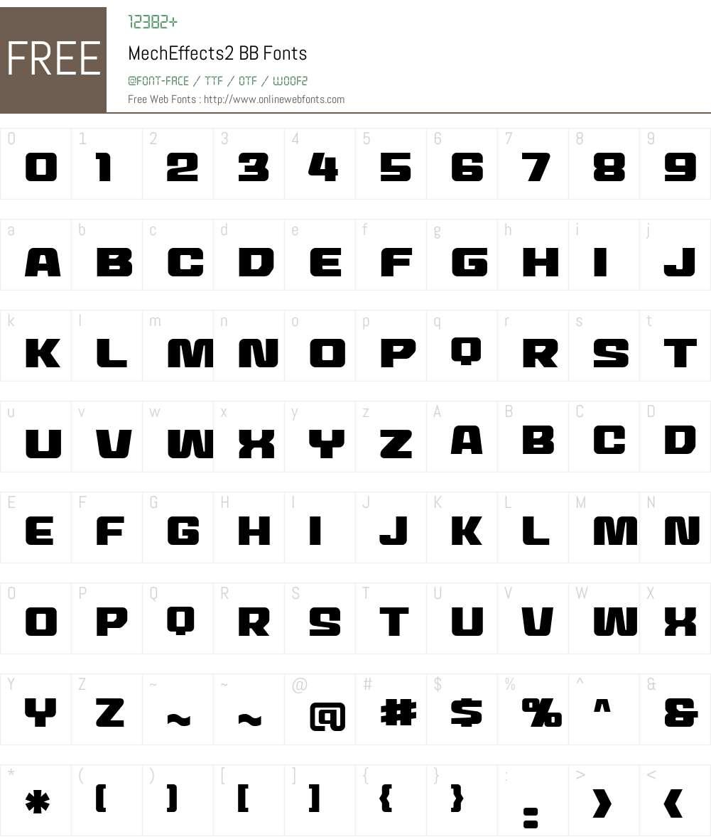 MechEffects2 BB Font Screenshots