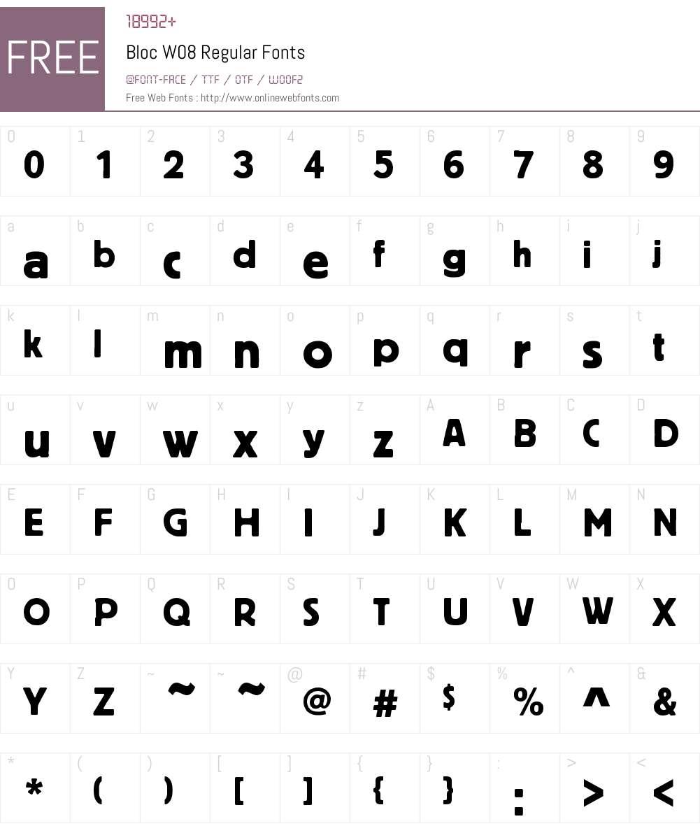 Bloc Font Screenshots