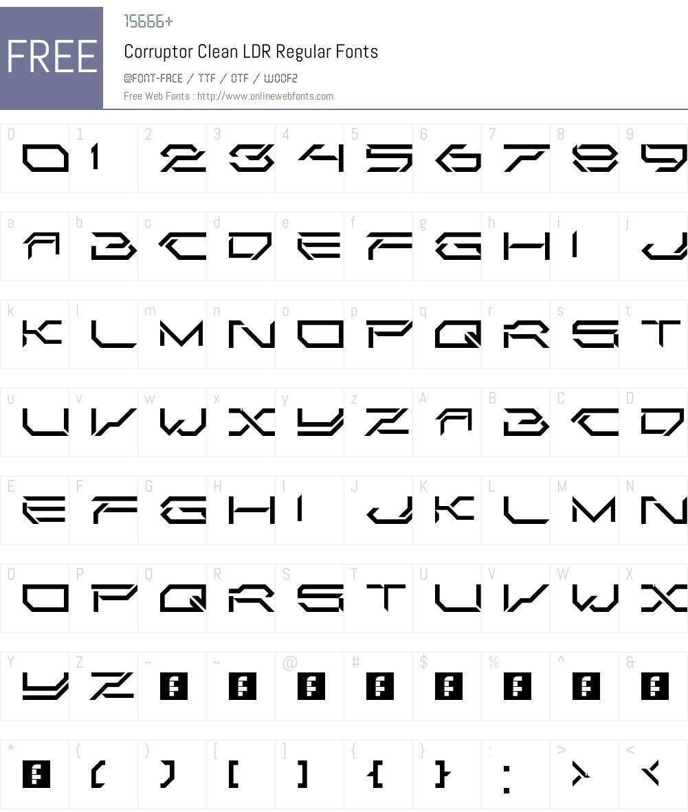 Corruptor Clean LDR Font Screenshots