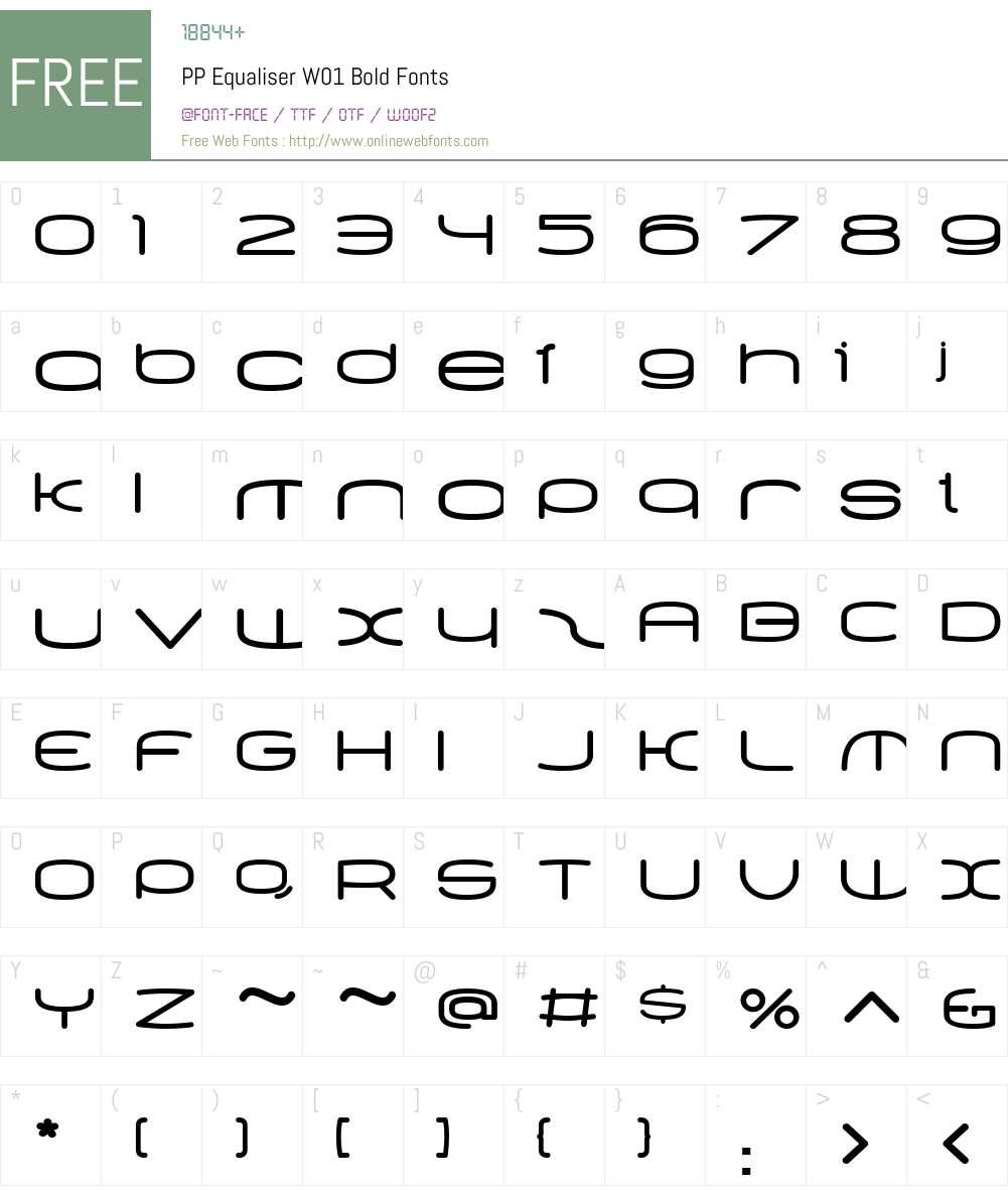 PPEqualiserW01-Bold Font Screenshots