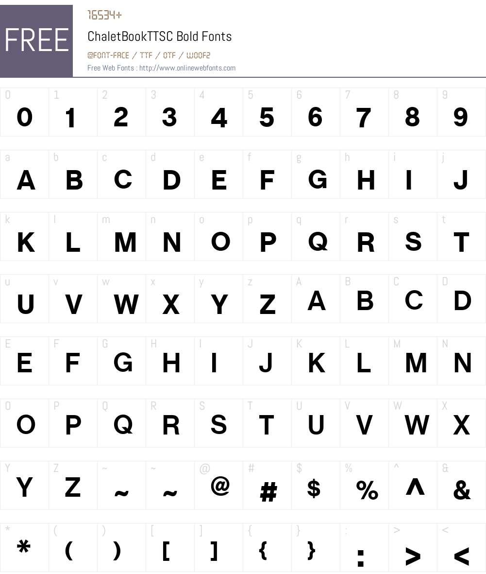 ChaletBookTTSC Font Screenshots