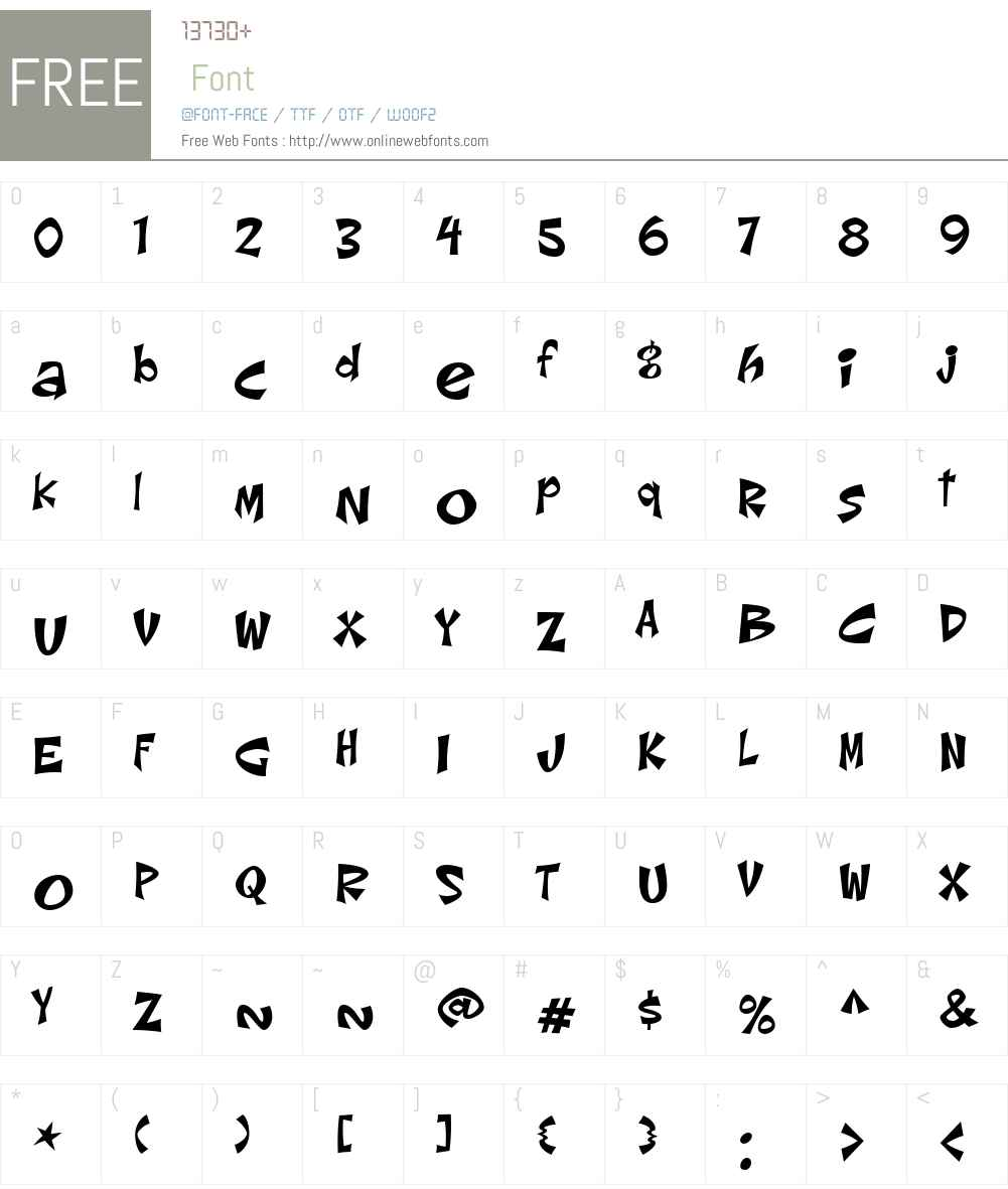 ChorizoW01-Regular Font Screenshots
