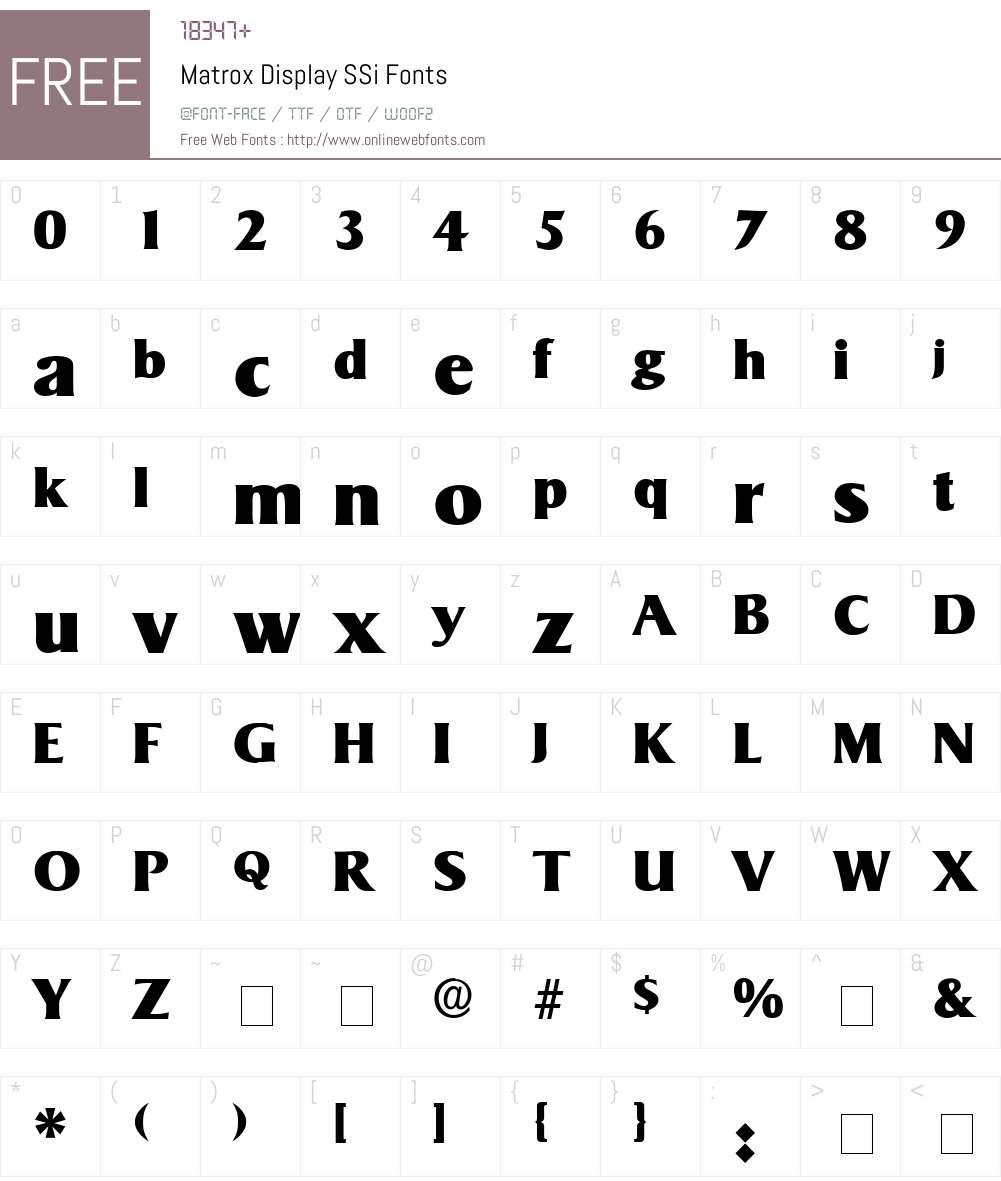Matrox Display SSi Font Screenshots