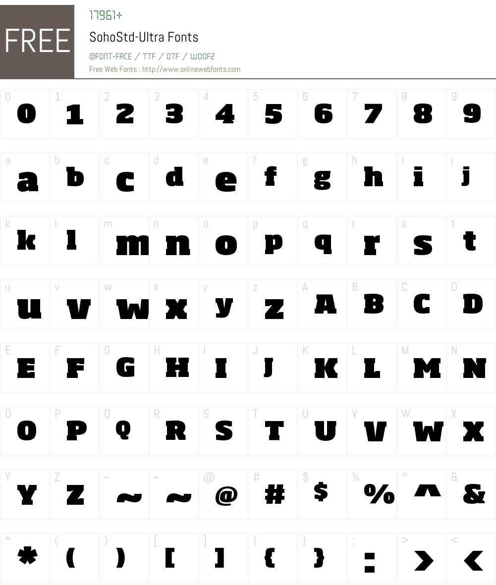 Soho Std Ultra Font Screenshots