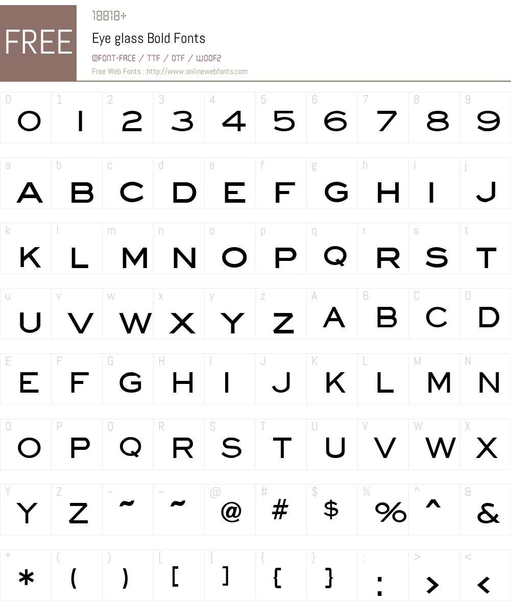 Eye glass Font Screenshots