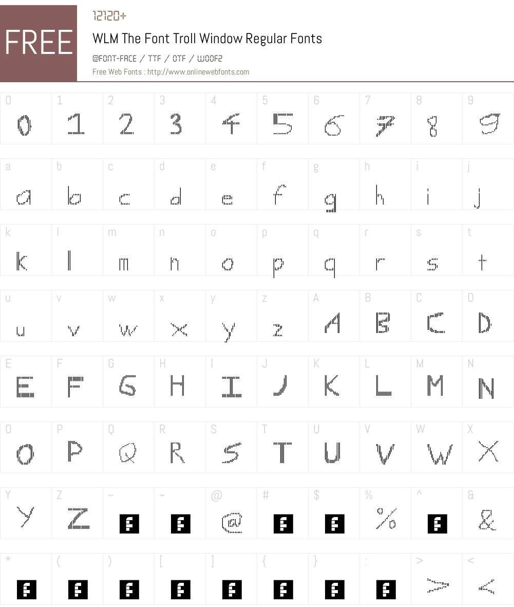 WLM The Font Troll Window Font Screenshots