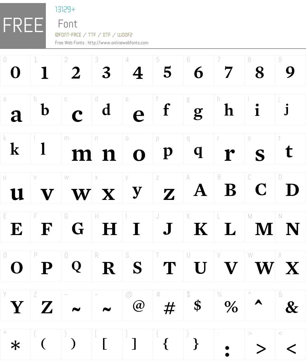 Mercury Text G1 Font Screenshots