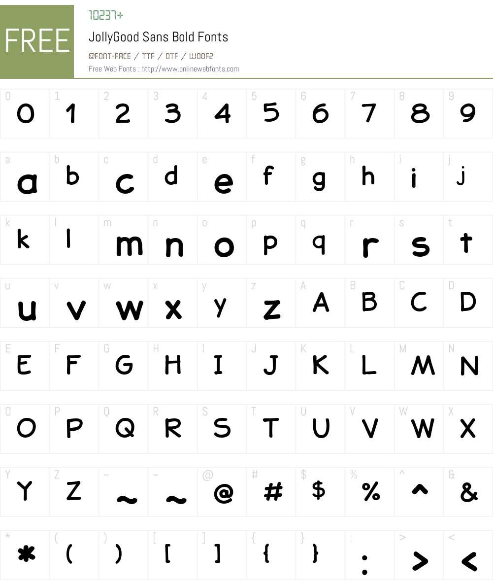 JollyGoodSans-Bold Font Screenshots