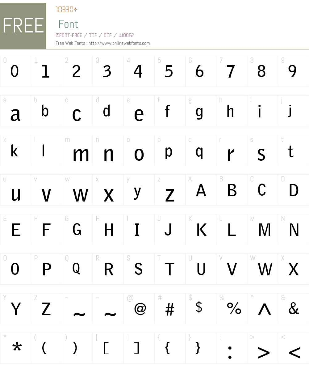 BellGothicW01-Bold Font Screenshots