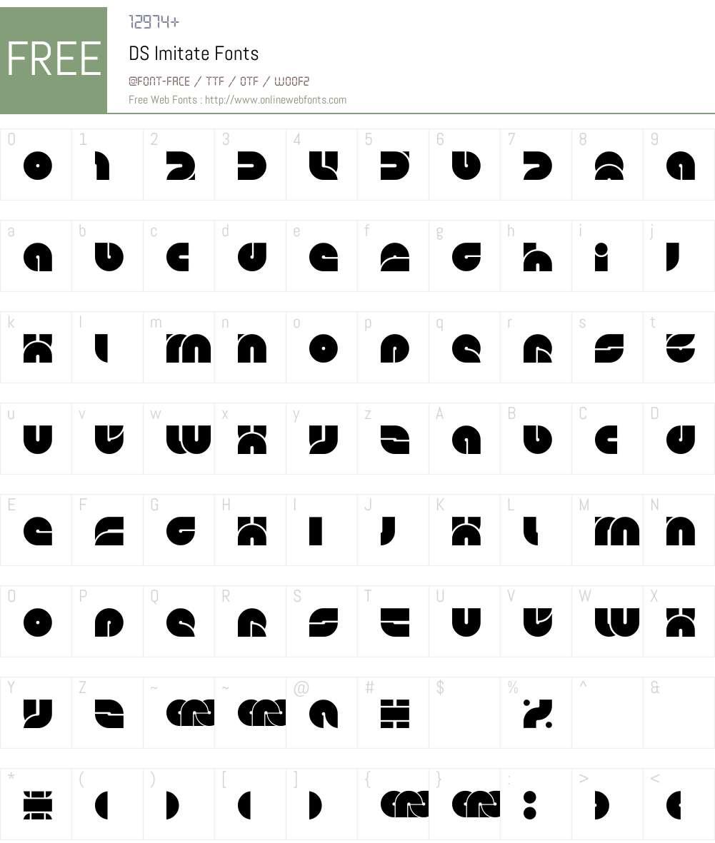 DS Imitate Font Screenshots