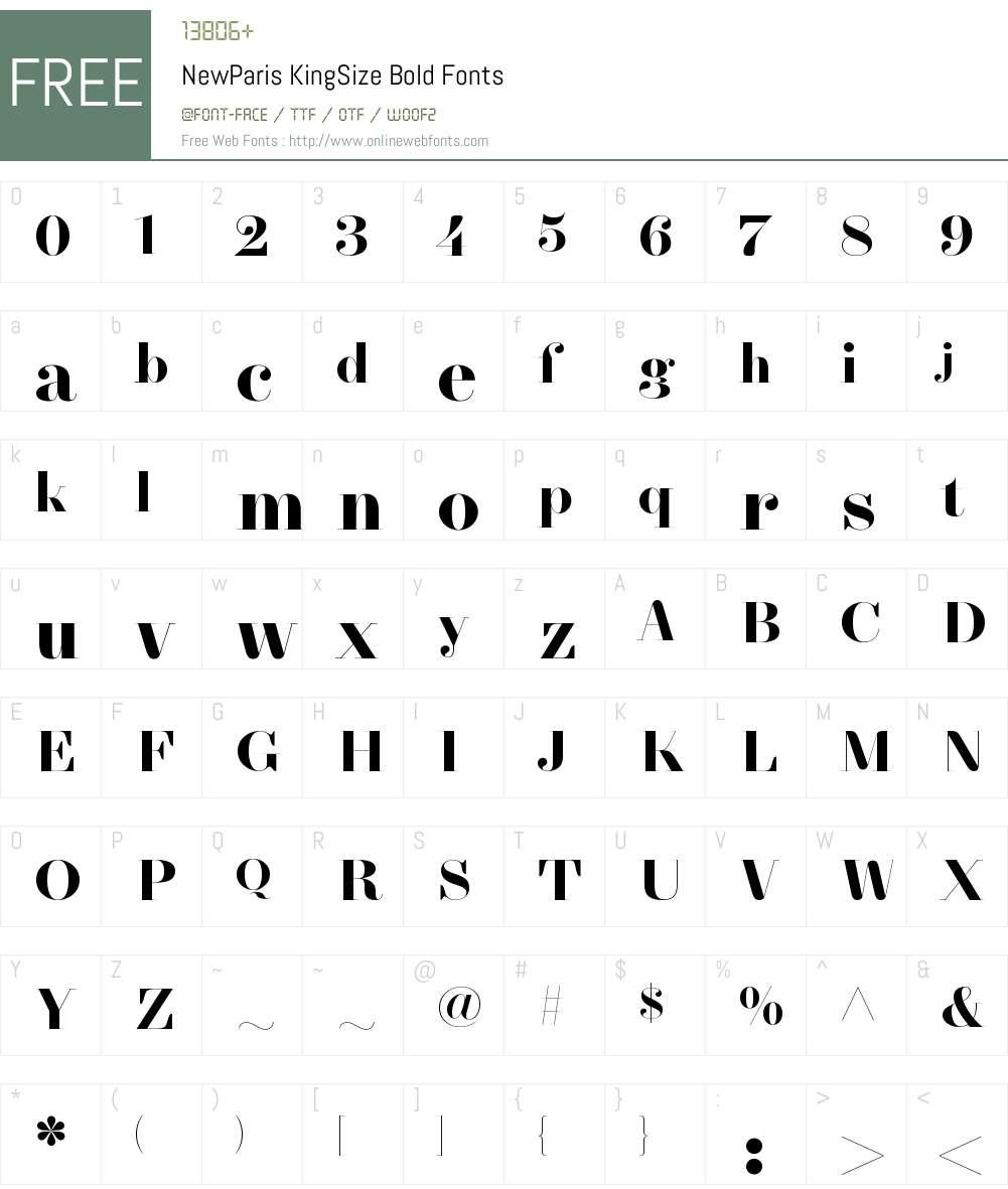 NewParis KingSize Bold Font Screenshots