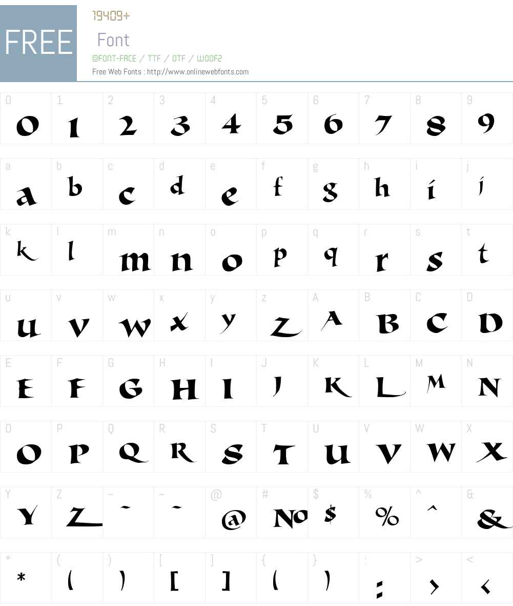 LHF Michelle Regular Font Screenshots
