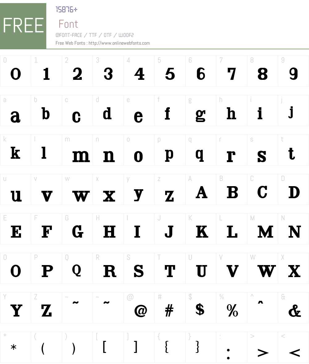 AntiqueWellsW00-Regular Font Screenshots