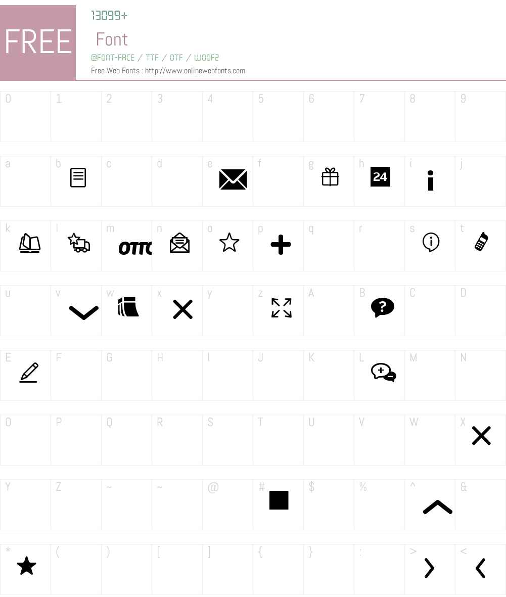 OTTO-Icons Font Screenshots