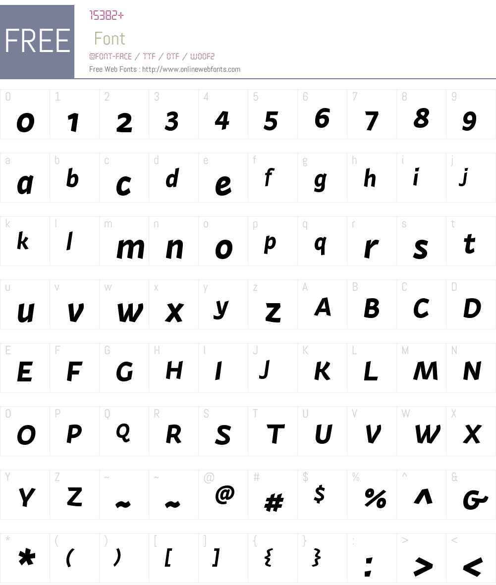 ActiumW00-BoldItalic Font Screenshots