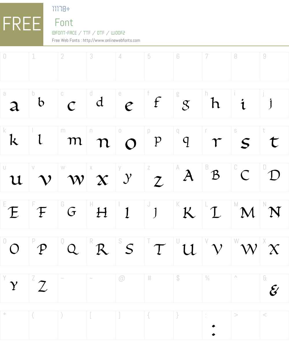 Foundational Font Screenshots