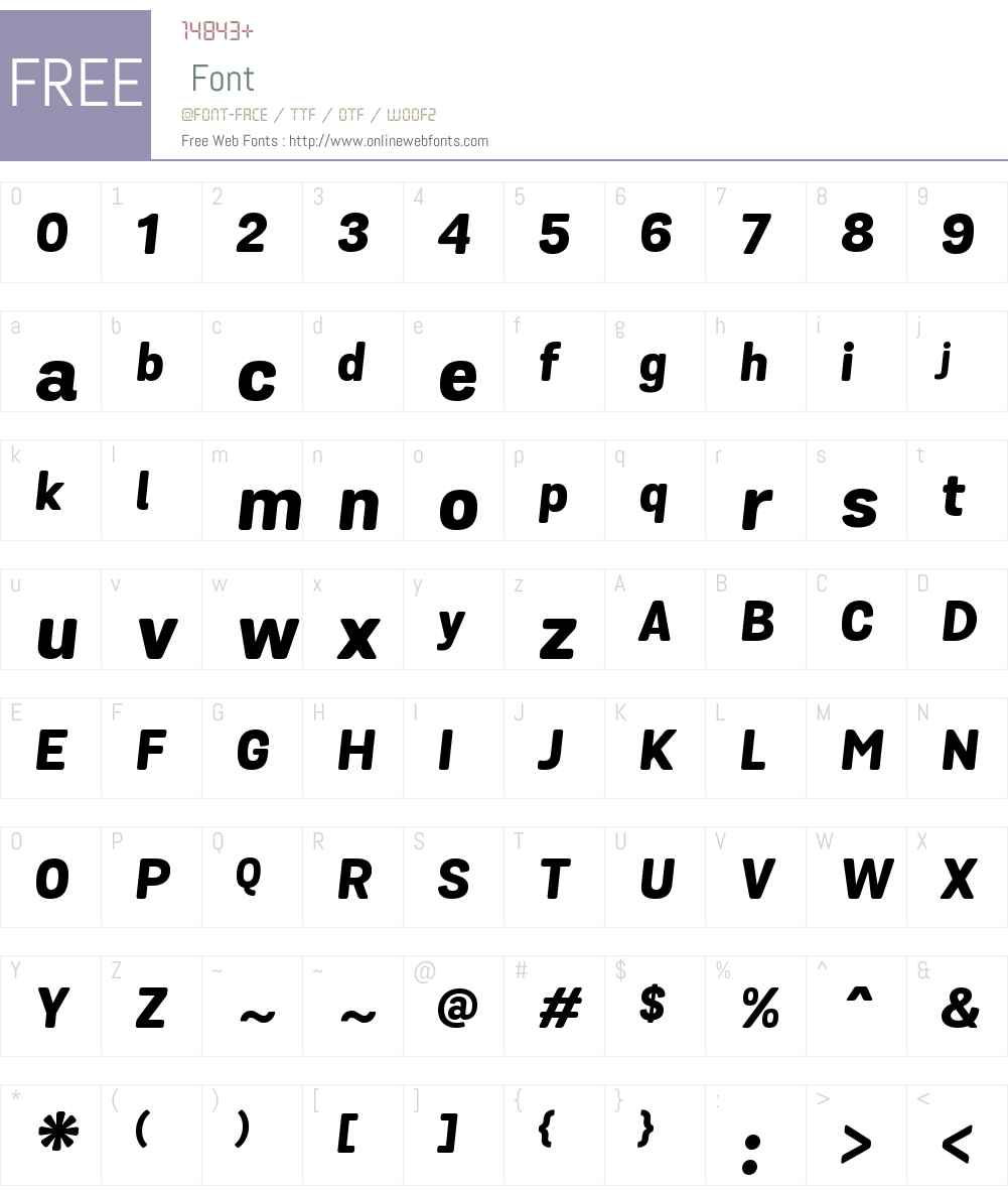 GrotaSansAltRdW00-XBoldIt Font Screenshots