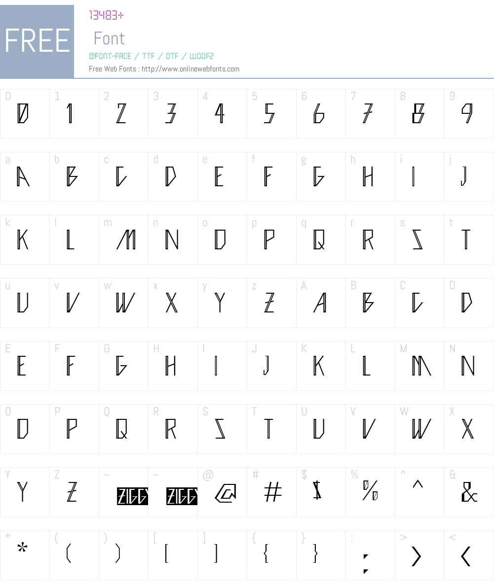 Ziggy Font Screenshots