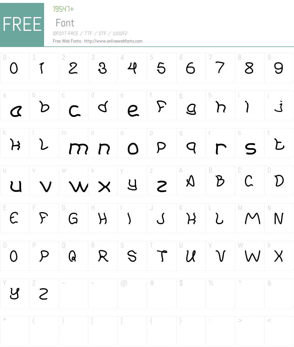 Young And Free Font Screenshots
