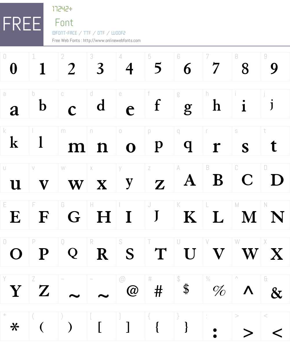 Granjon LT Font Screenshots