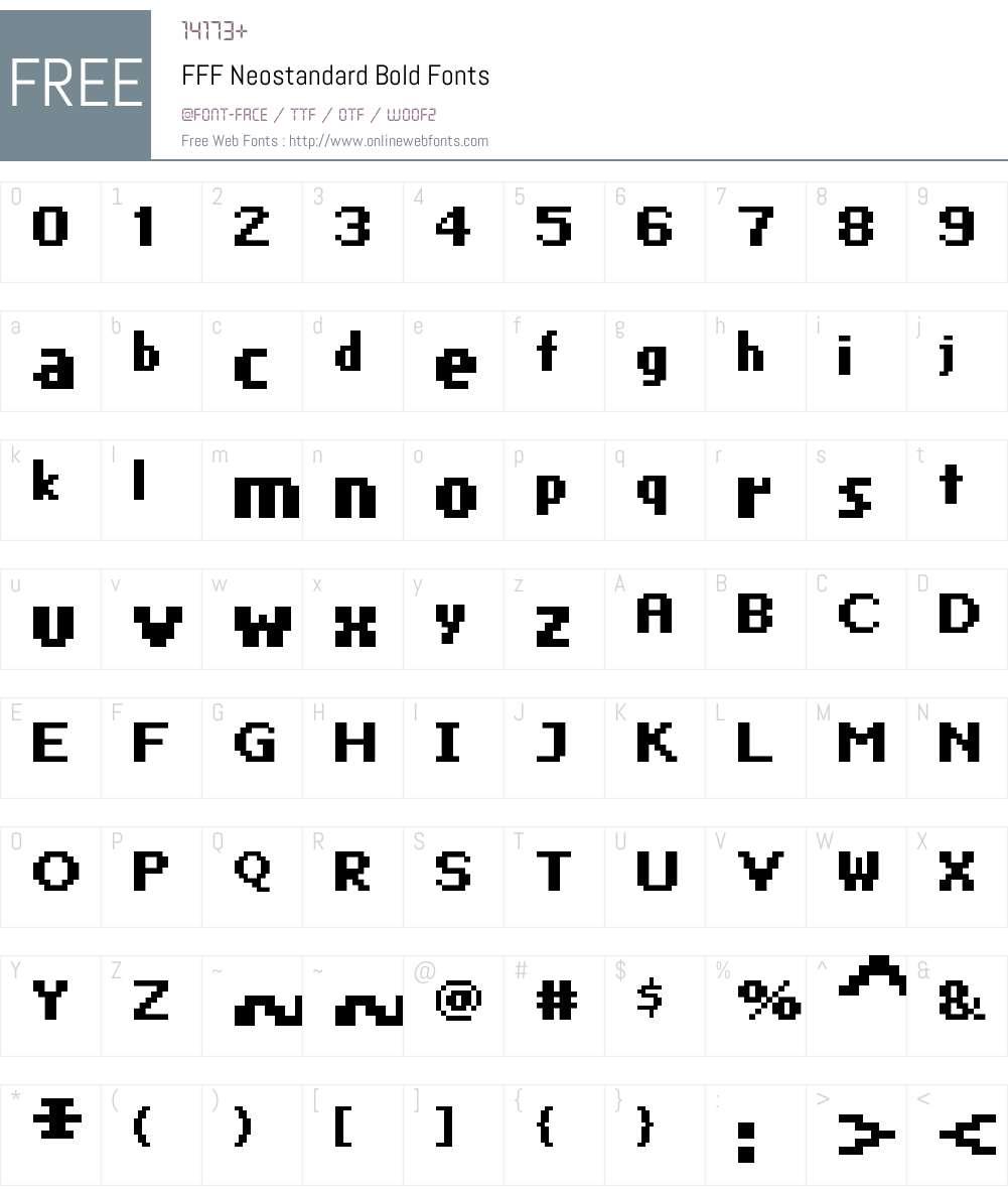 FFF Neostandard Bold Font Screenshots
