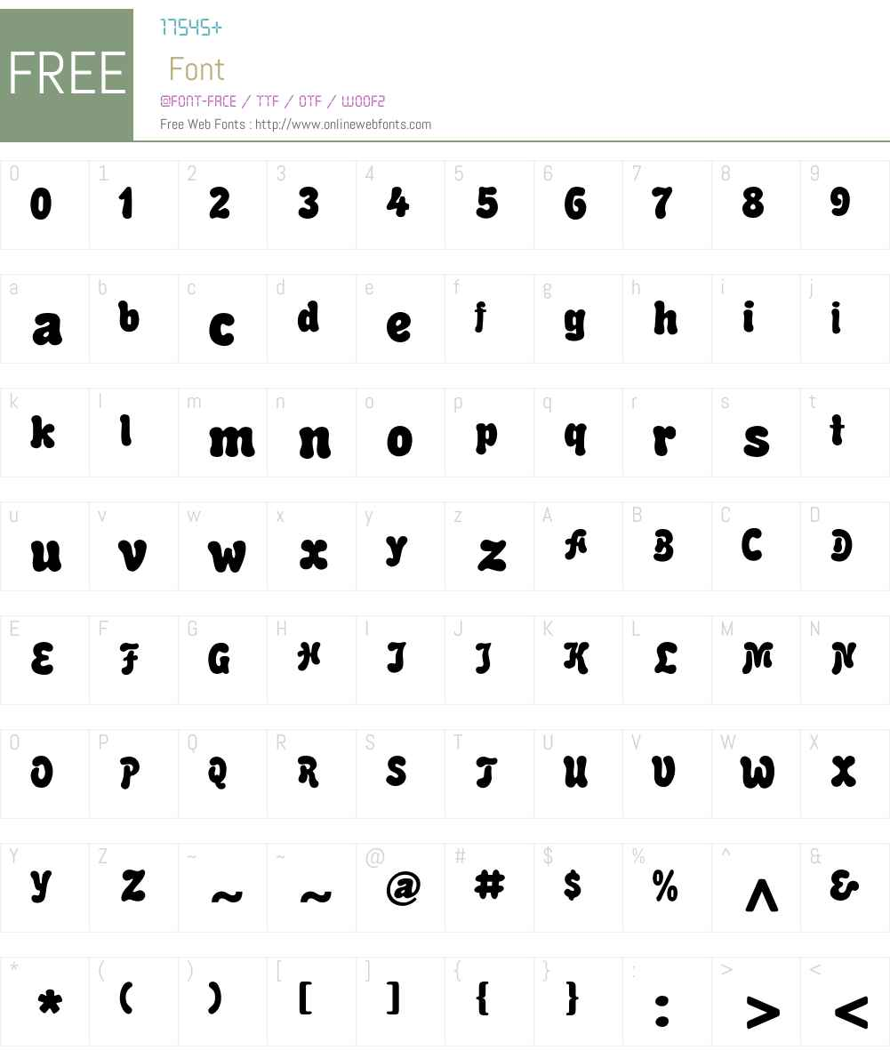 Alice Font Screenshots