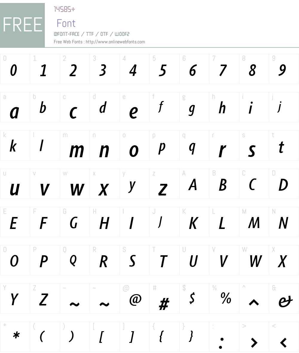 Agilita Font Screenshots