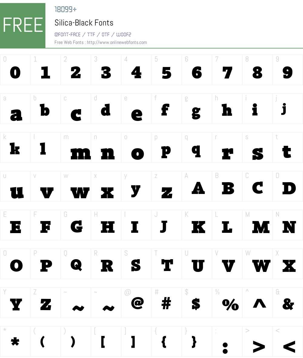 Silica-Black Font Screenshots