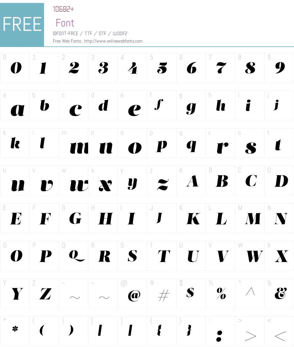 Salome Font Screenshots