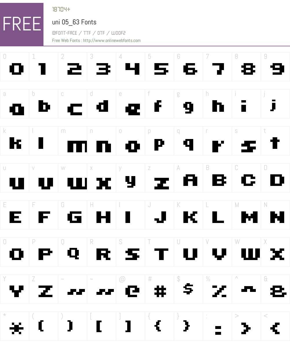 uni 05_63 Font Screenshots