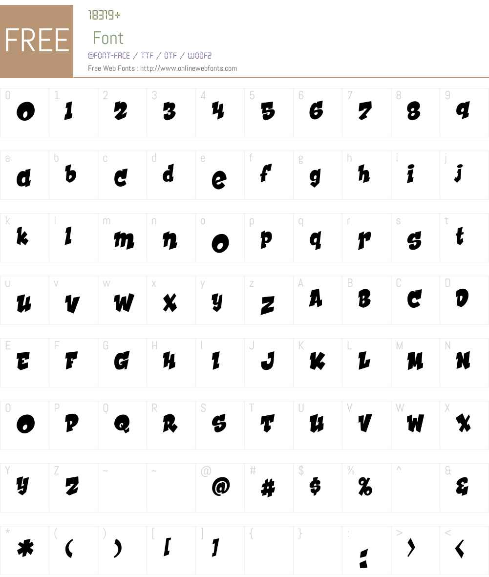 CCHookySolidW00-Regular Font Screenshots