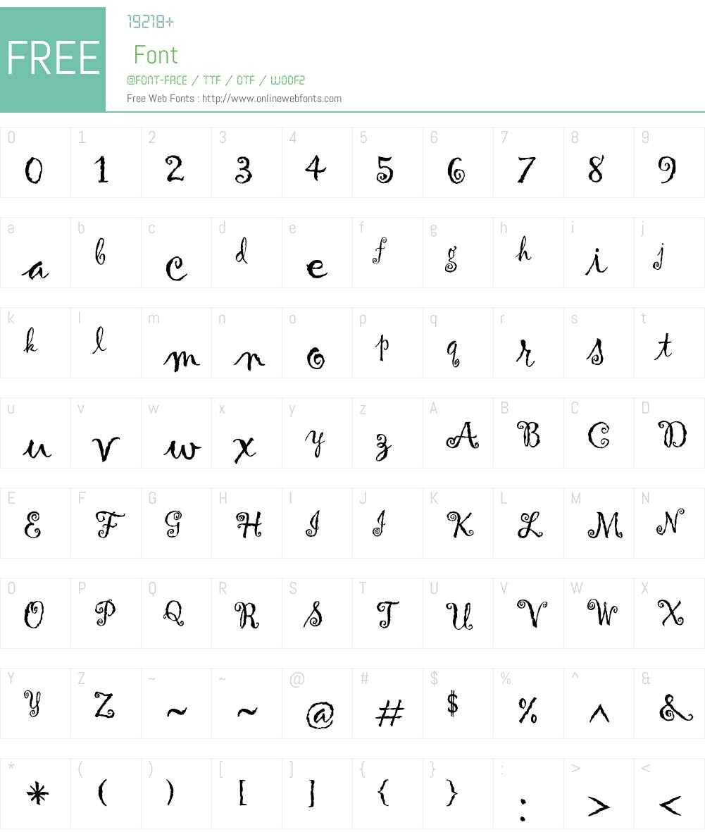 Gigi Font Screenshots