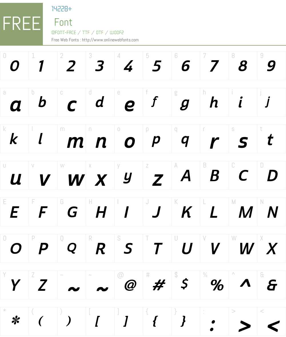 CabritoSansW01-NormBoldItal Font Screenshots