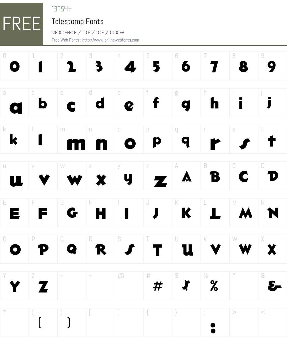Telestomp Font Screenshots