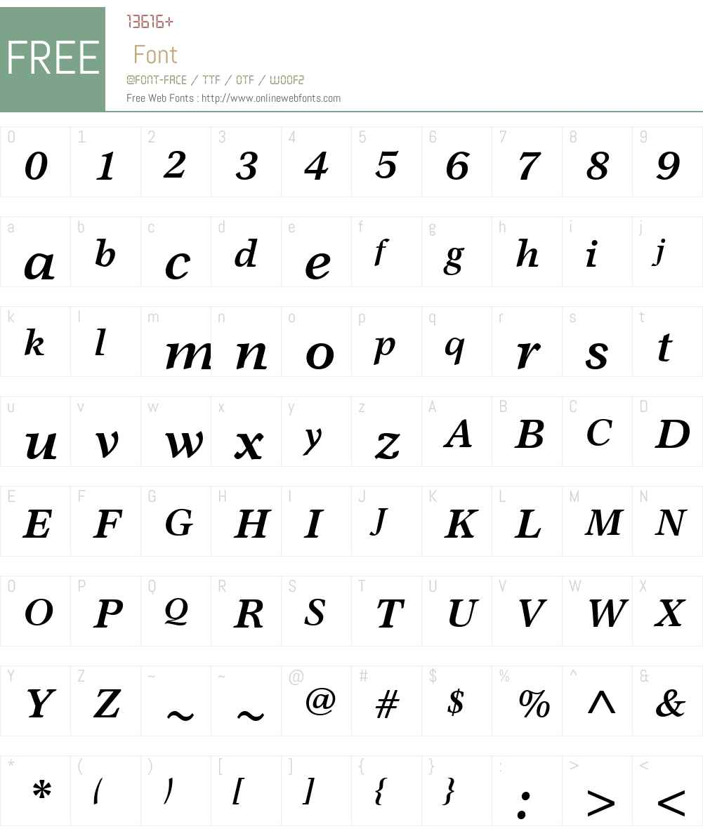 GarthGraphicW01-BoldIt Font Screenshots