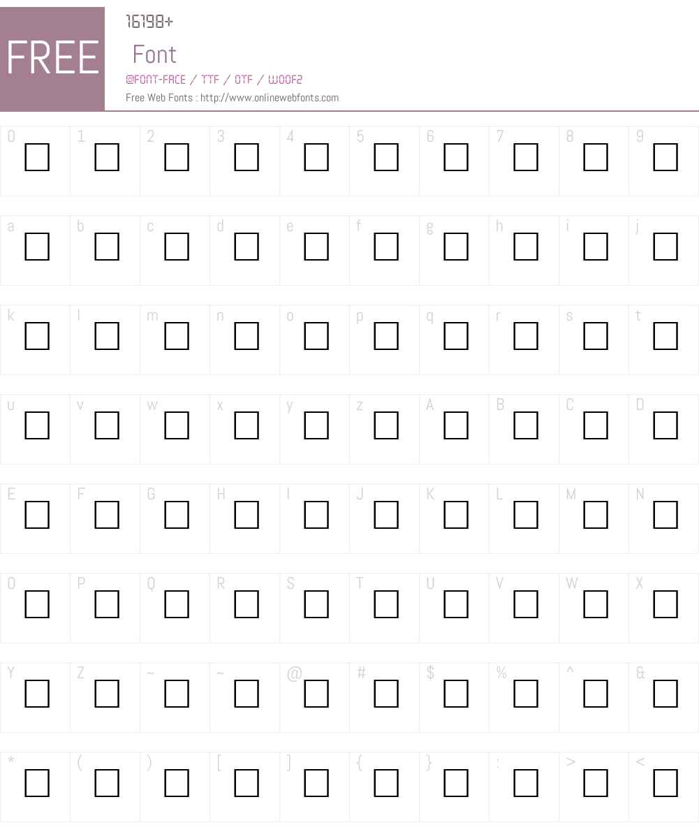 DISPATCH Font Screenshots