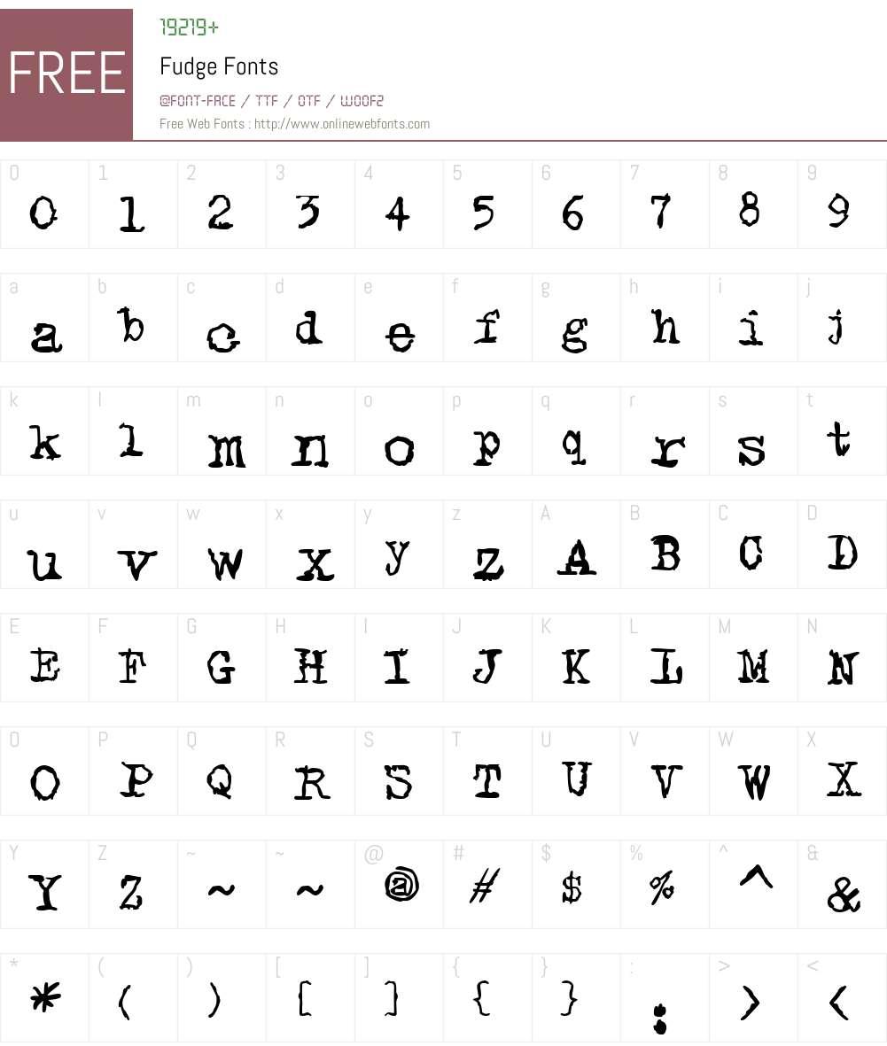 FudgeW01-Reg Font Screenshots