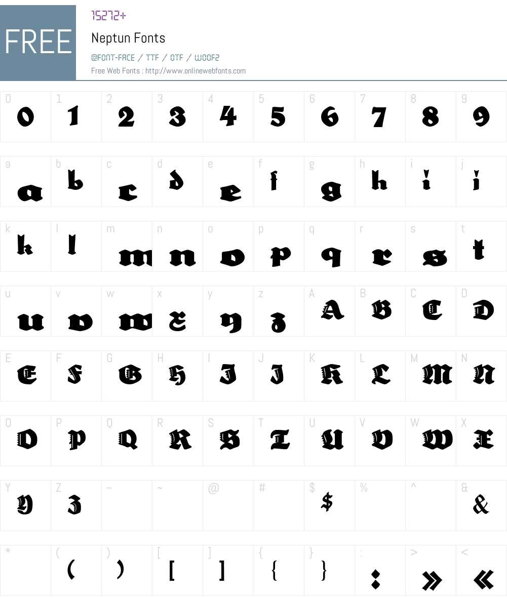 Neptun Font Screenshots