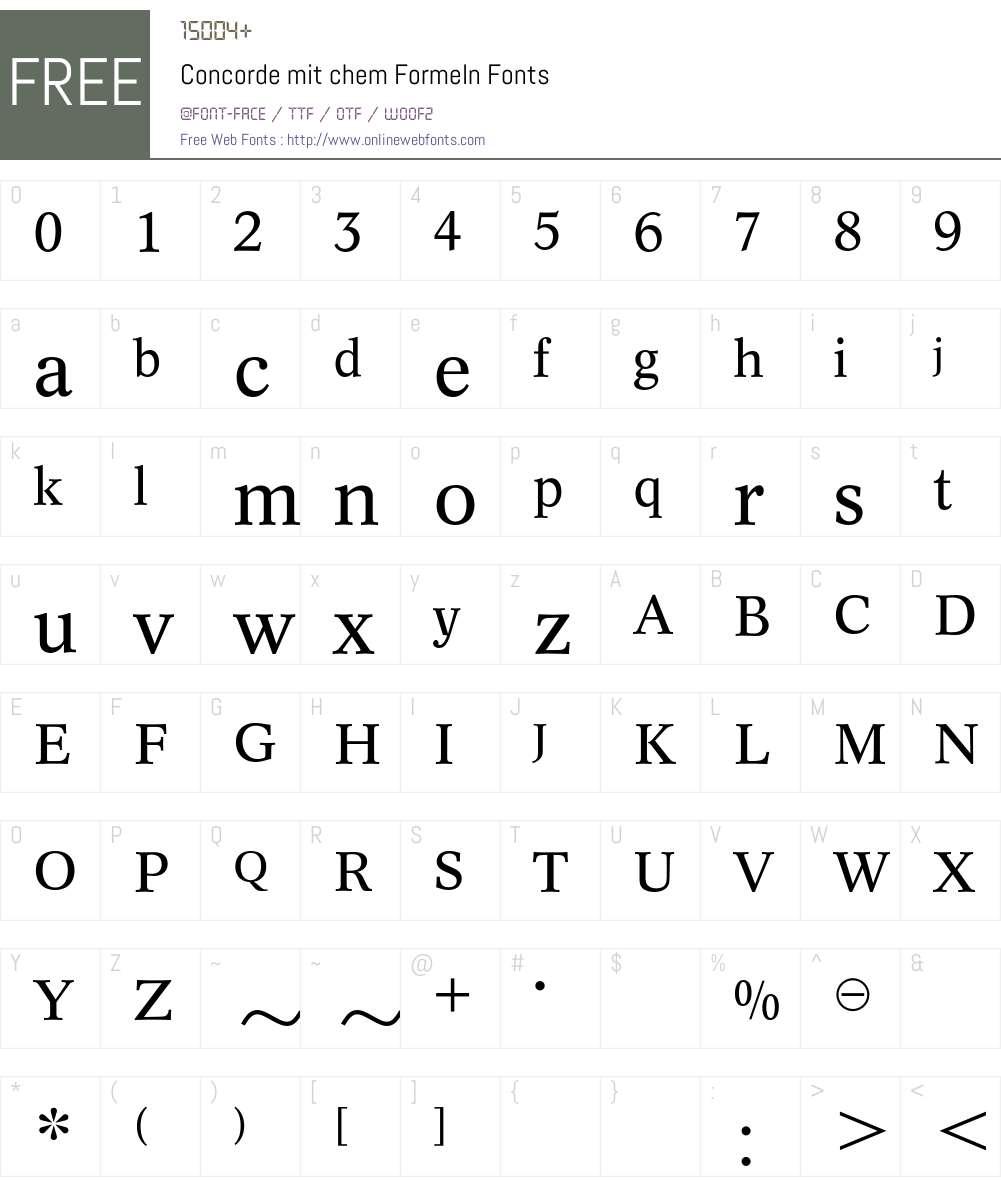ConcordeChem BQ Font Screenshots
