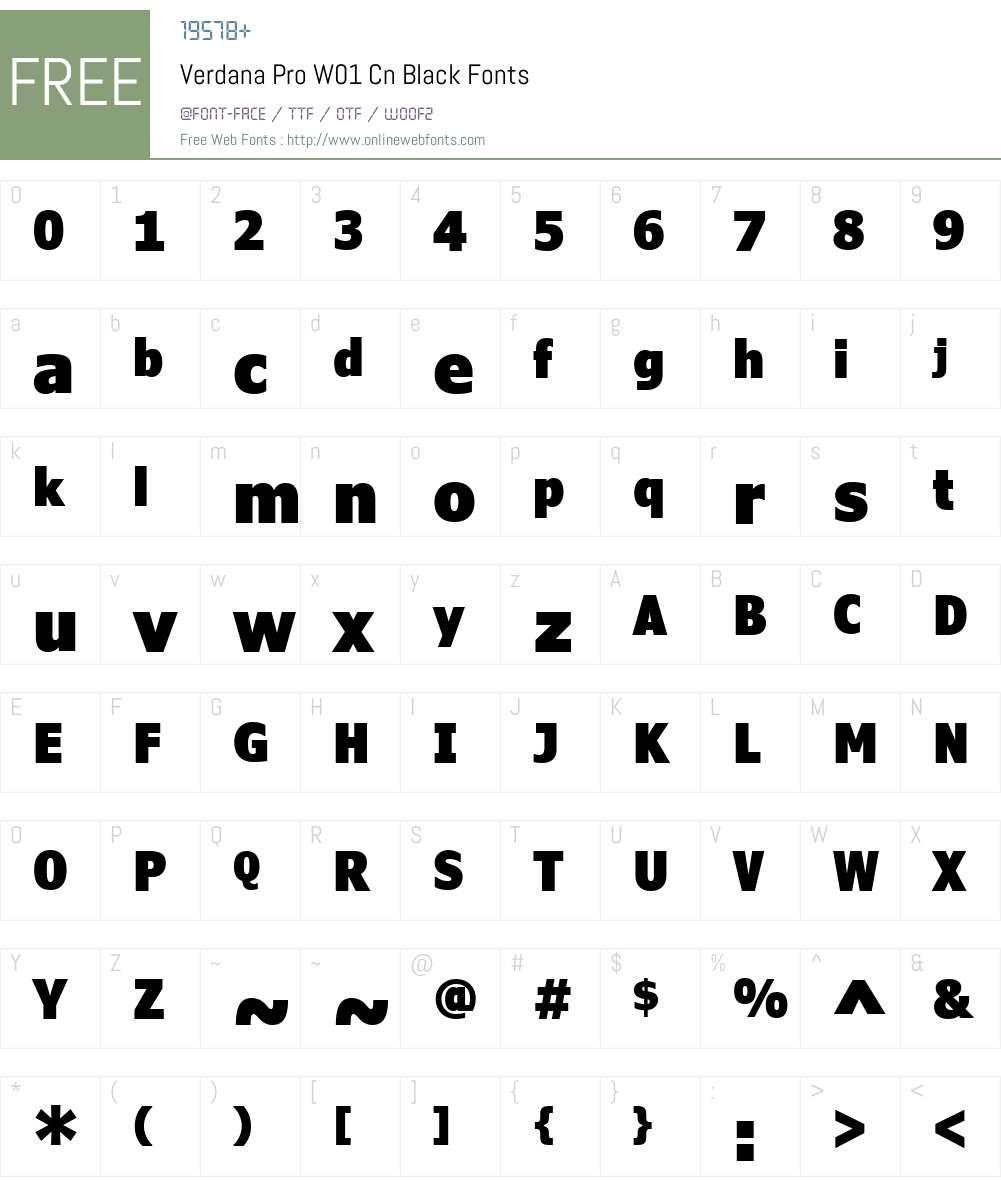 VerdanaProW01-CnBlack Font Screenshots