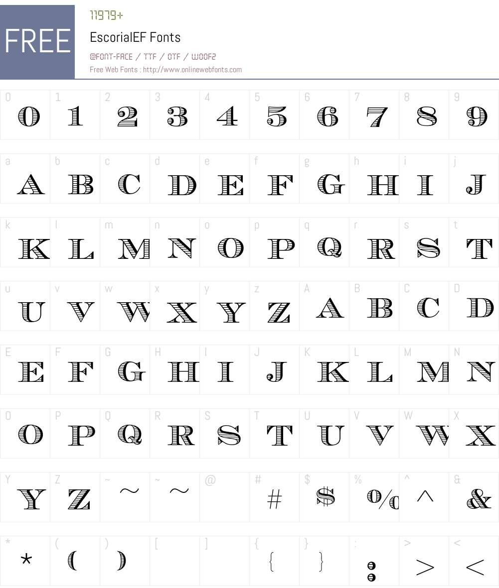 EscorialEF Font Screenshots