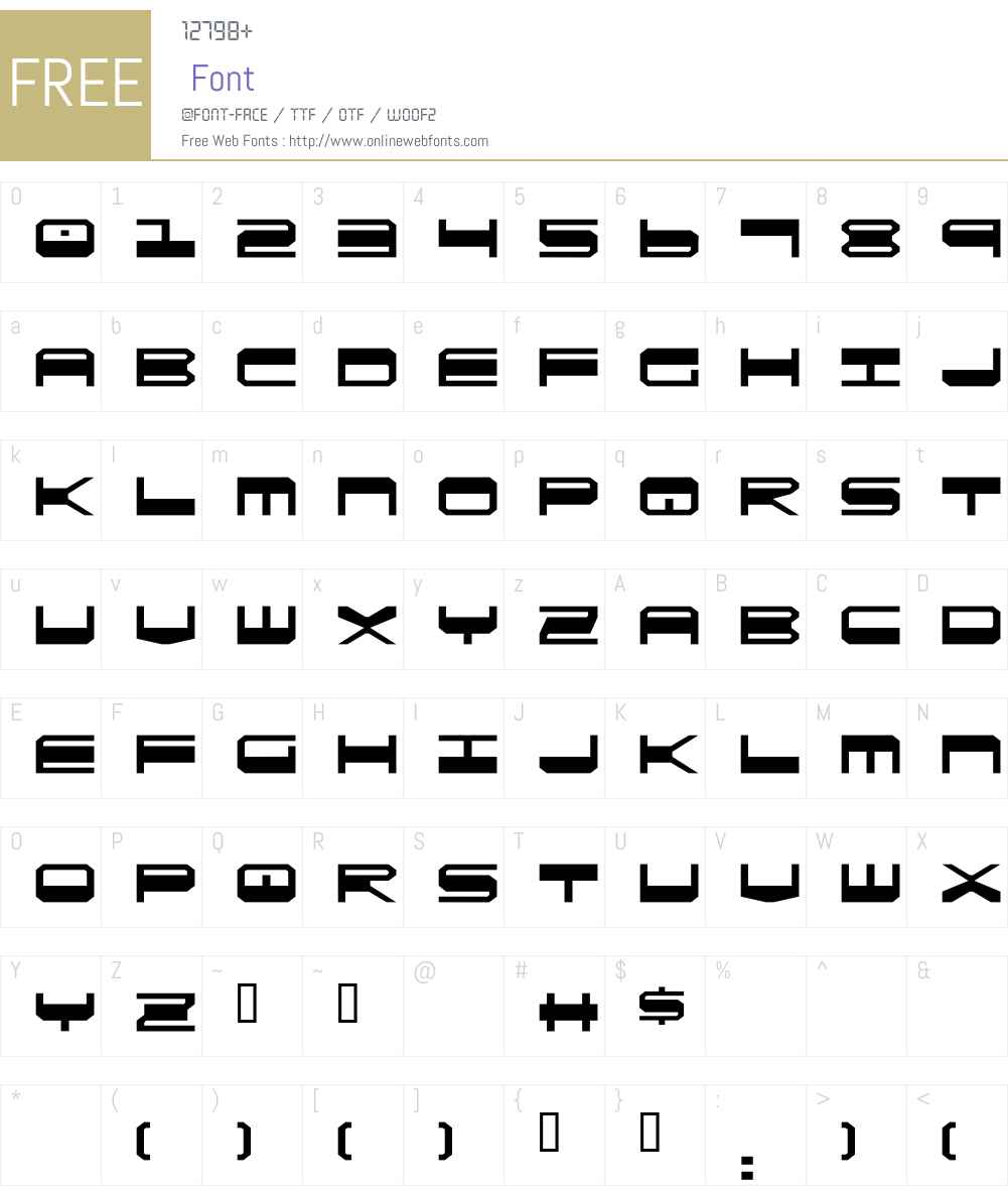QuickGear Font Screenshots