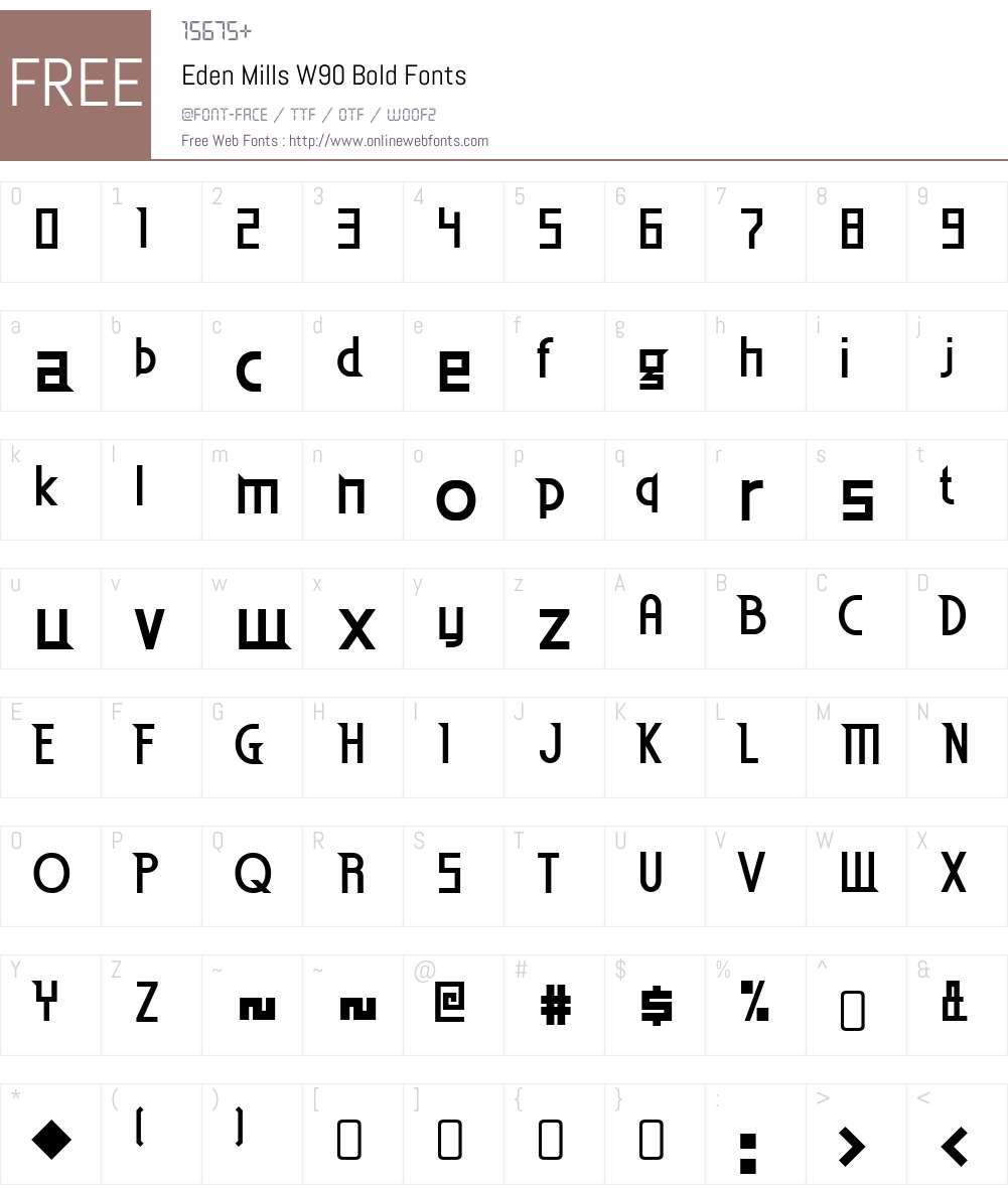EdenMillsW90-Bold Font Screenshots