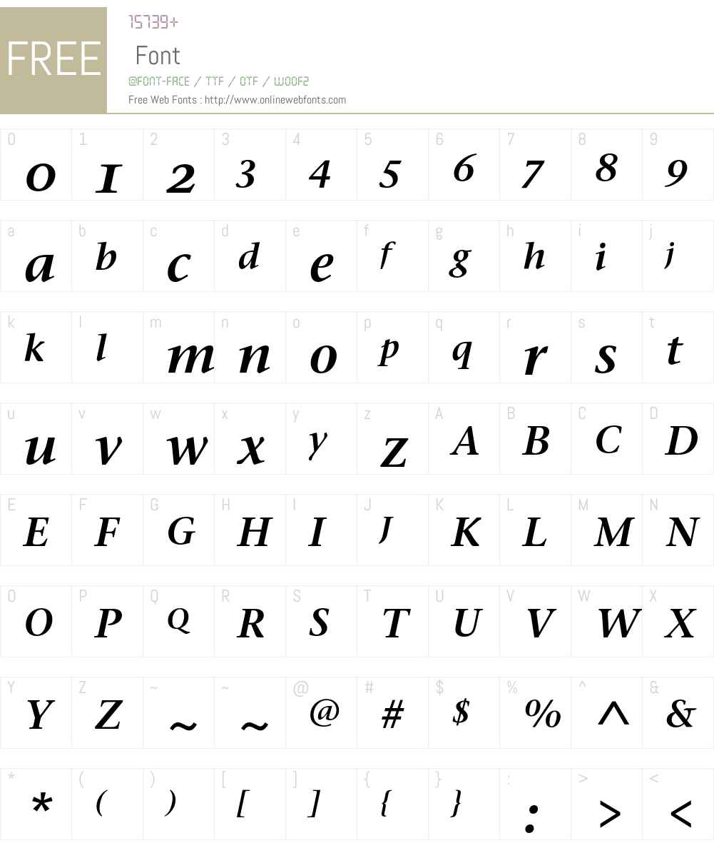 Stone Serif Sem OS ITC Font Screenshots