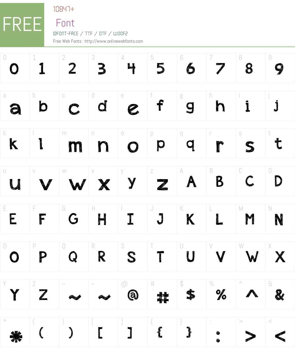appleberry Font Screenshots